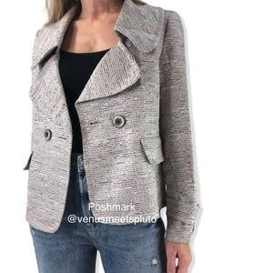 Ellen Tracy Jacket Blazer Sz 6 Iridescent Textured